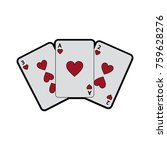 hearts suit french playing... | Shutterstock .eps vector #759628276
