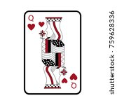 queen of hearts french playing... | Shutterstock .eps vector #759628336