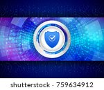 digital technology protection... | Shutterstock .eps vector #759634912