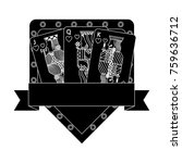 poker casino jack queen king... | Shutterstock .eps vector #759636712