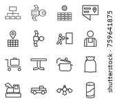 thin line icon set   hierarchy  ... | Shutterstock .eps vector #759641875