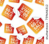 sale 60  percent off sticker... | Shutterstock .eps vector #759646312