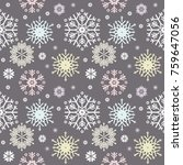 stylish seamless pattern with... | Shutterstock .eps vector #759647056