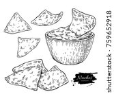 nachos drawing. traditional... | Shutterstock .eps vector #759652918