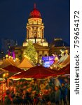 christmas market near deutscher ... | Shutterstock . vector #759654172