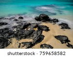 Small photo of ebb and flow, shot at Troud' Argent beach, Rodrigues Island, Mauritius