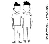 couple of male friends avatars | Shutterstock .eps vector #759660058