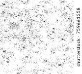 grunge black and white pattern. ... | Shutterstock . vector #759661258
