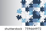 vector abstract colorful... | Shutterstock .eps vector #759664972