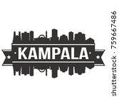 kampala uganda skyline...   Shutterstock .eps vector #759667486