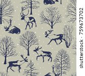 vector seamless pattern with... | Shutterstock .eps vector #759673702