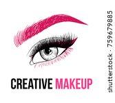 beautiful colorful woman eye... | Shutterstock .eps vector #759679885