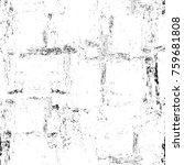 grunge black and white pattern. ... | Shutterstock . vector #759681808