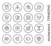 set round line icons of... | Shutterstock .eps vector #759682942