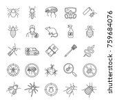 pest control linear icons set.... | Shutterstock .eps vector #759684076
