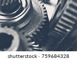 close up view of stack of gears | Shutterstock . vector #759684328