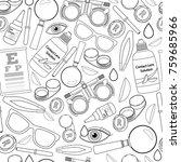 seamless pattern of medical... | Shutterstock .eps vector #759685966
