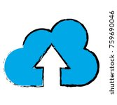 cloud computing with arrow up | Shutterstock .eps vector #759690046