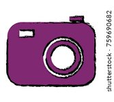 photographic camera isolated... | Shutterstock .eps vector #759690682