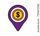 money dollar social media round ... | Shutterstock .eps vector #759691582
