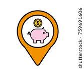 piggy coin bank social media... | Shutterstock .eps vector #759691606