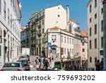 lisbon  portugal   august 11 ... | Shutterstock . vector #759693202