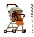 pram baby stroller in flat...   Shutterstock .eps vector #759696142