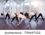 yoga  fitness  sport  training... | Shutterstock . vector #759697132