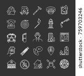 firefighting chalk icons set.... | Shutterstock .eps vector #759703246