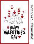 valentine's day greeting card... | Shutterstock .eps vector #759712648