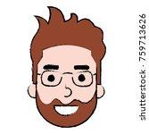 young man head avatar character | Shutterstock .eps vector #759713626