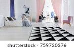 multifunctional bedroom space... | Shutterstock . vector #759720376