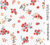 simple cute pattern in small... | Shutterstock .eps vector #759727255