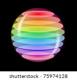 color abstract sphere   Shutterstock . vector #75974128