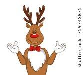 illustration with cartoon... | Shutterstock .eps vector #759743875