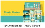 travel and tourism   tropical... | Shutterstock .eps vector #759745495