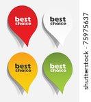 eps10  realistic design elements | Shutterstock .eps vector #75975637