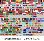 all flags of the world. correct ...   Shutterstock .eps vector #759757678