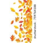 windy flying oak leaf abstract... | Shutterstock .eps vector #759764188