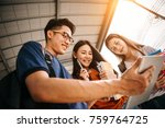 a group of young or teen asian... | Shutterstock . vector #759764725
