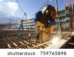 foundation welding to receive... | Shutterstock . vector #759765898