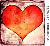 Grunge Red Heart Background