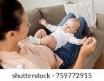 family  motherhood and people... | Shutterstock . vector #759772915