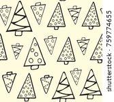 winter graphic seamless pattern ... | Shutterstock .eps vector #759774655