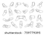 collection of hands holding... | Shutterstock .eps vector #759779395