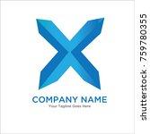 letter x logo design concept  | Shutterstock .eps vector #759780355