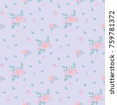 fashionable pattern in small... | Shutterstock . vector #759781372