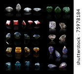 collection gems diferent shapes ... | Shutterstock . vector #75978184