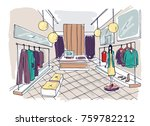 freehand drawing of clothing... | Shutterstock .eps vector #759782212