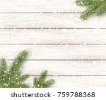 christmas white wooden... | Shutterstock .eps vector #759788368
